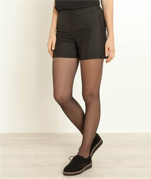 Short femme habillé NOIR