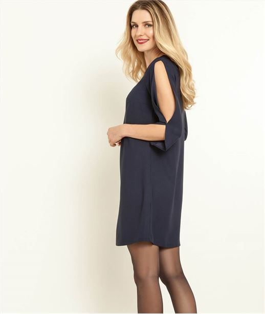 Robe femme ouvertures manches MARINE