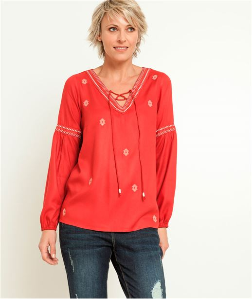 Blouse femme broderies PAPRIKA