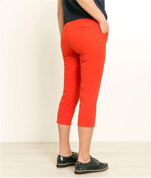 Pantalon corsaire femme couleurs ROUGE