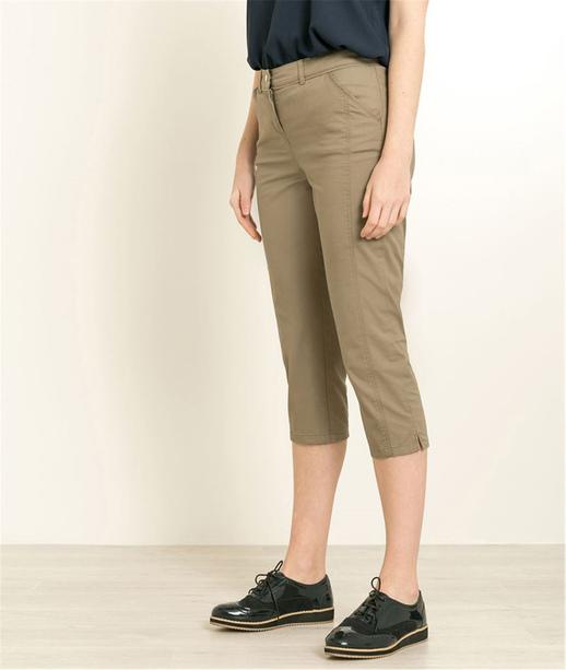Pantalon corsaire femme couleurs KAKI