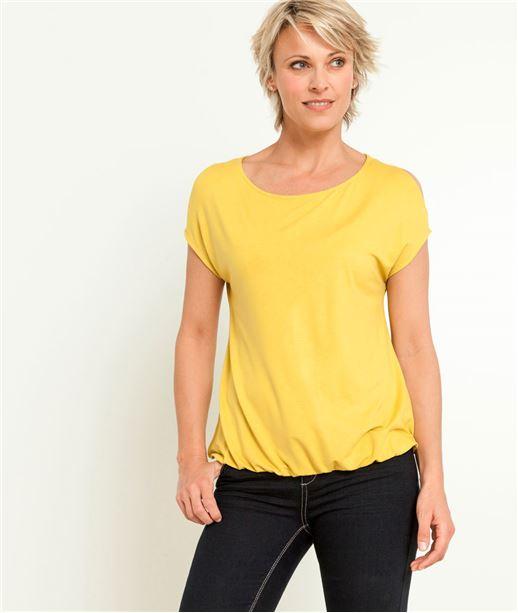 T-shirt femme épaules ouvertes CITRINE