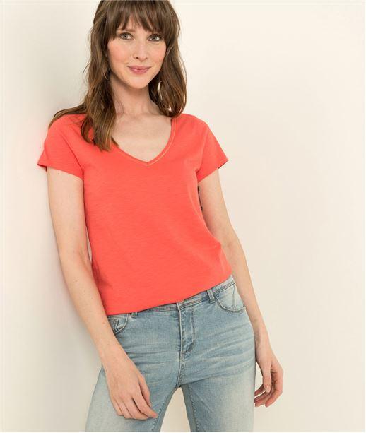 T-shirt femme uni manches courtes CAPUCINE