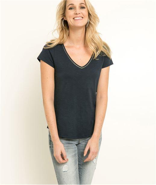 T-shirt femme manches courtes MARINE
