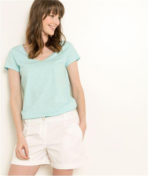 T-shirt femme uni manches courtes LAGON