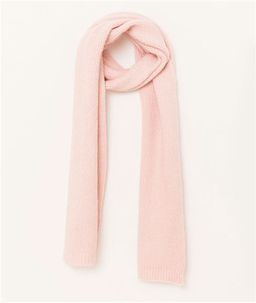 Echarpe femme tricotée ROSE