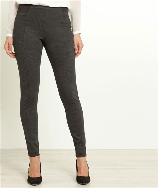 Pantalon jegging femme taille haute NOIR