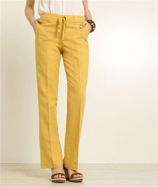 Pantalon femme en lin CITRINE