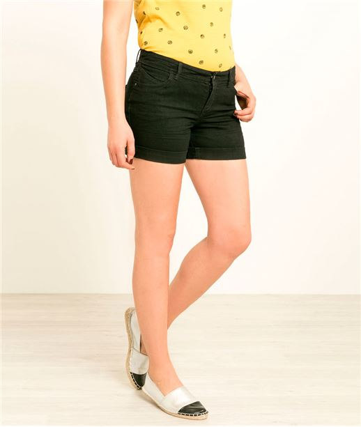 Short denim BLACK