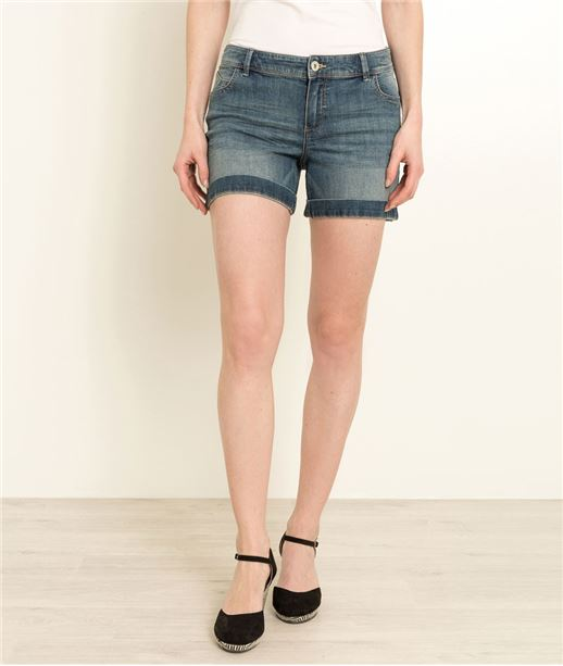 Short denim STONE