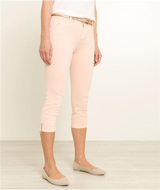 Corsaire femme en jean couleurs NACRE