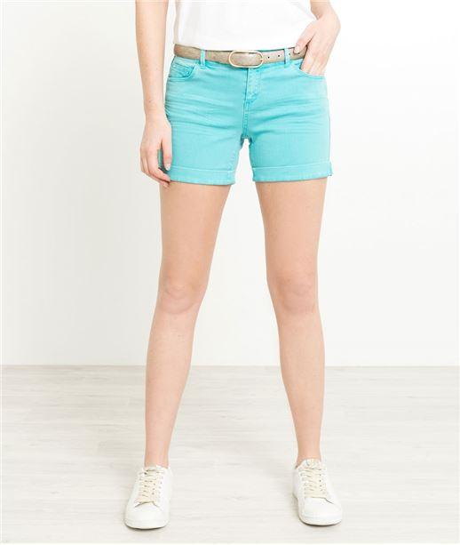 Short en jean de couleur TURQUOISE
