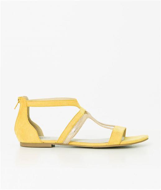 Sandales femmes bimatière JAUNE