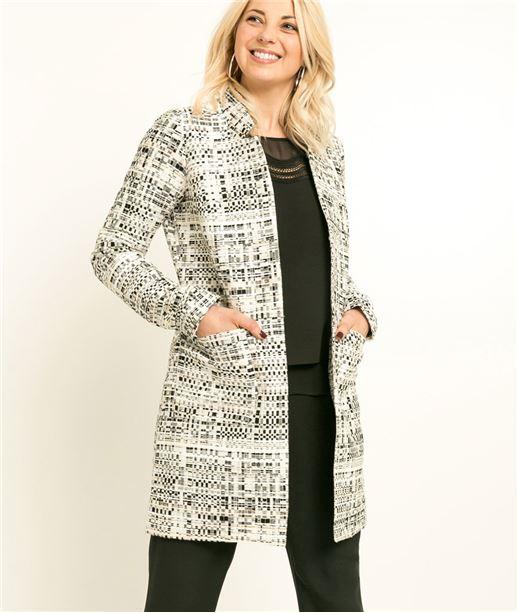 Manteau femme habillé ECRU