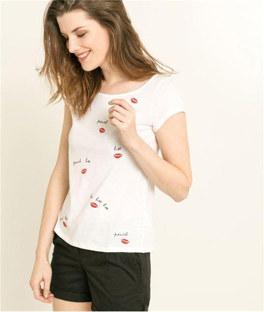 T-shirt femme à message BLANC