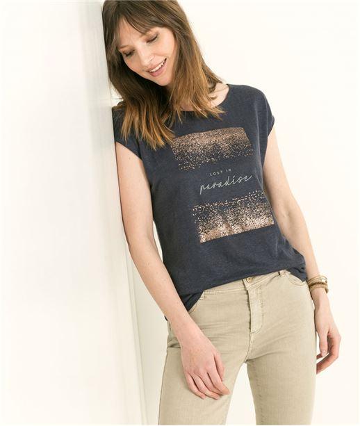 T-shirt femme dos croisé MARINE