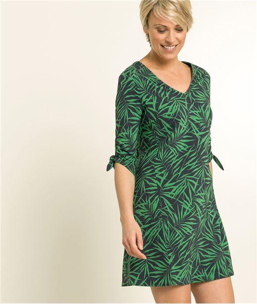 Robe femme imprimé tropical VERT