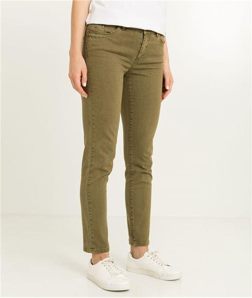 Pantalon raccourci femme couleur KAKI