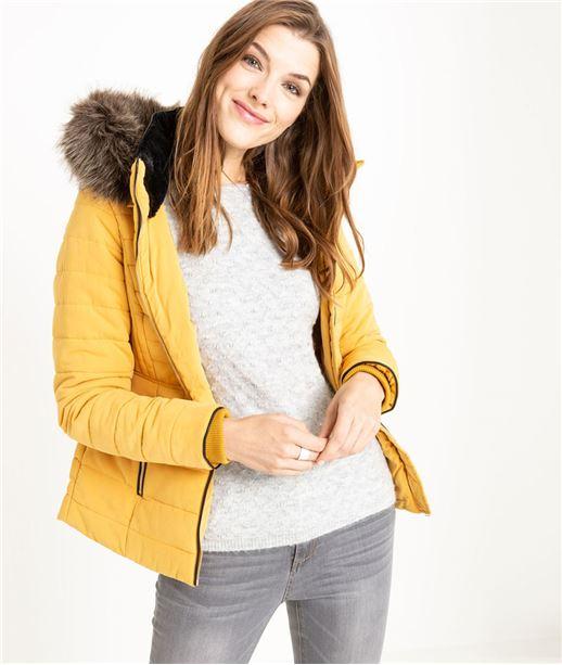 Manteau court chaud pour femme