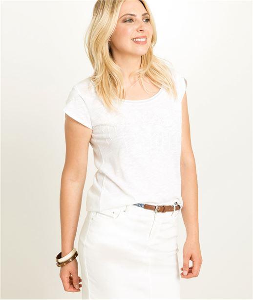 T-shirt femme blanc BLANC
