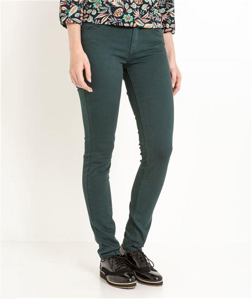 Pantalon slim couleur effet push up FEUILLE