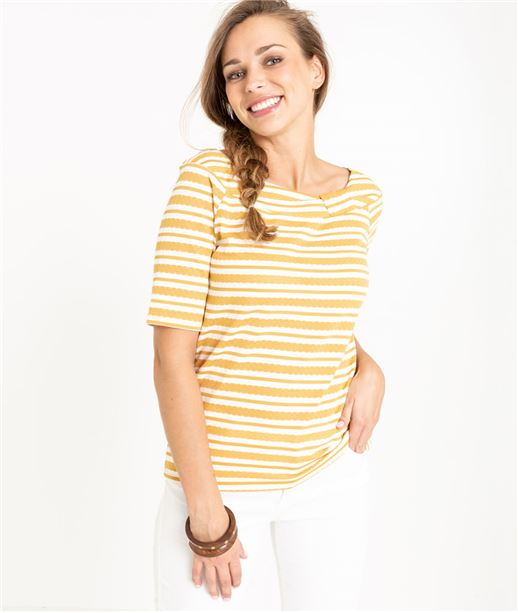 T-shirt femme rayé ECRU