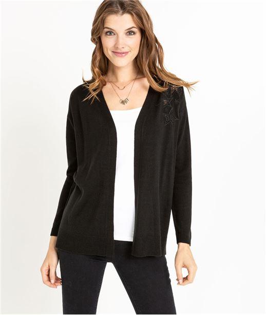 Gilet veste courte femme