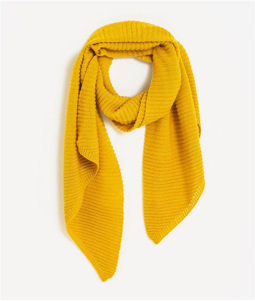Echarpe femme tricotée JAUNE