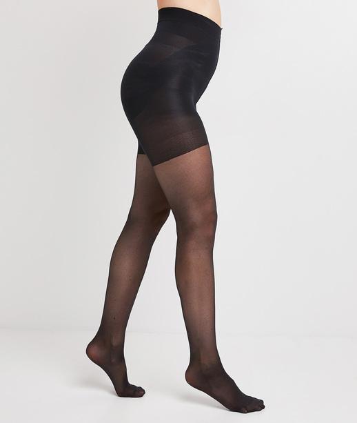 Collant femme noir semi opaque sculptant NOIR