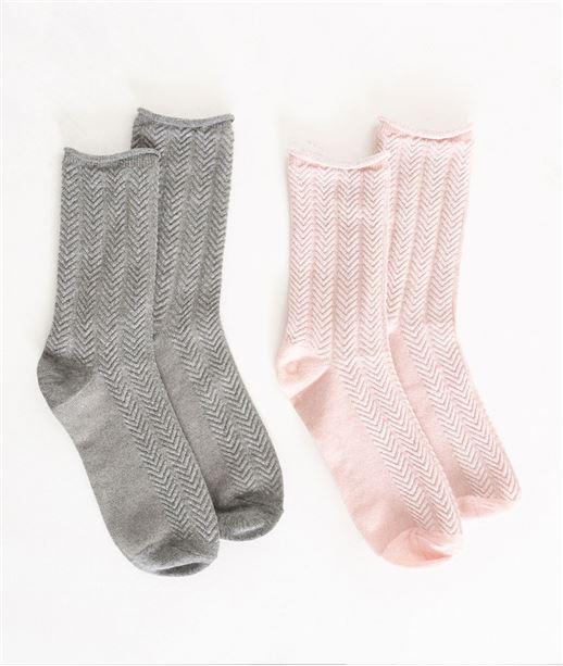 Lot de deux paires de chaussettes GRIS