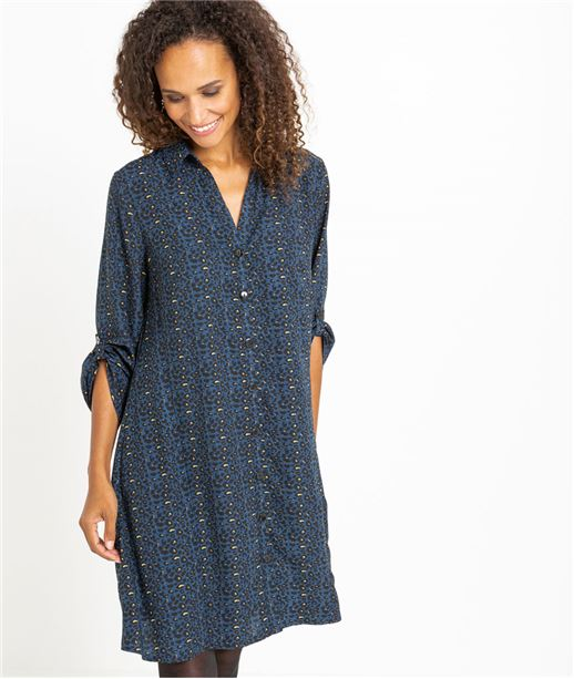 Robe chemise femme imprimée MARINE