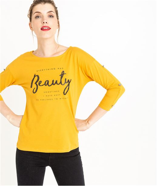 T-shirt femme manches 3/4 safran SAFRAN