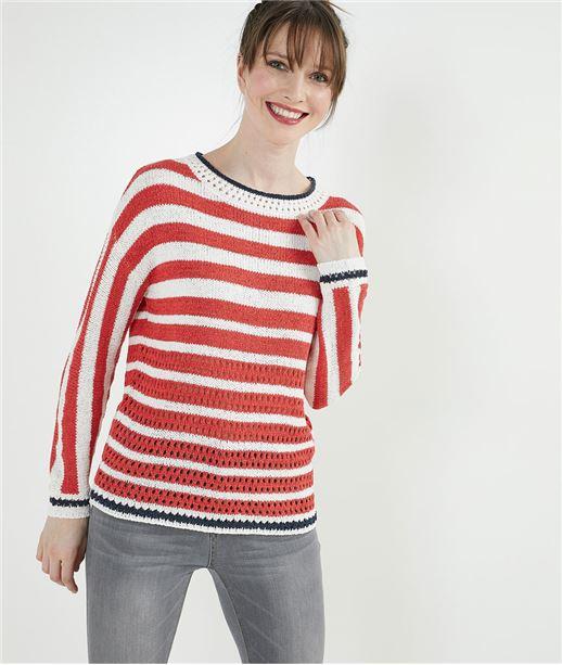Pull tricot ruban ECRU
