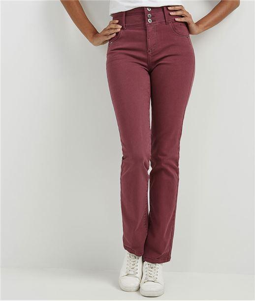 Pantalon femme droit taille haute MYRTILLE