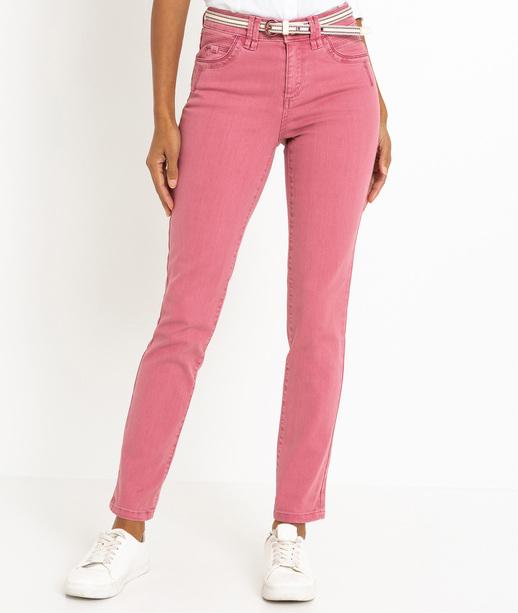 Pantalon femme raccourci uni ROSE