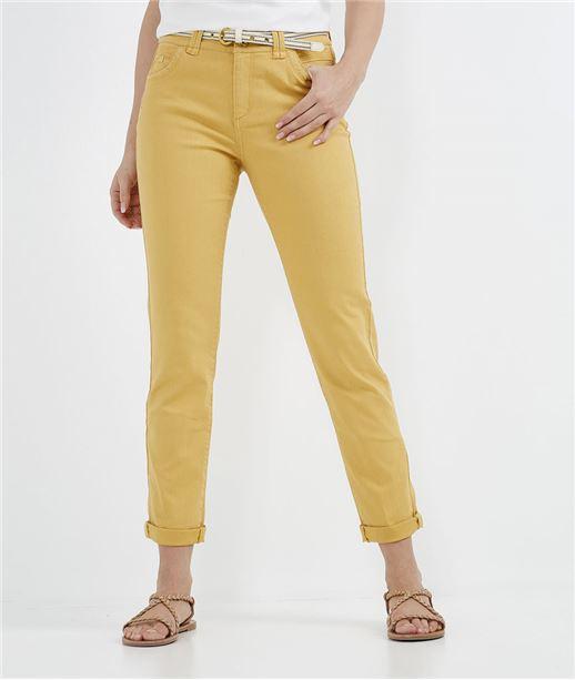 Pantalon femme raccourci uni MIEL