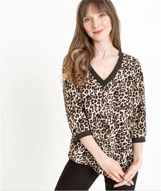 Blouse femme imprimé léopard LEOPARD