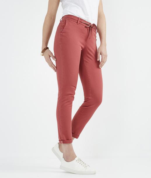 Pantalon chino avec ceinture BLUSH