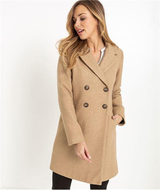 Manteau femme long camel CAMEL
