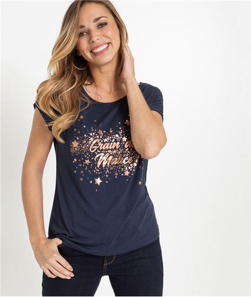 T-shirt femme Grain de Malice MARINE