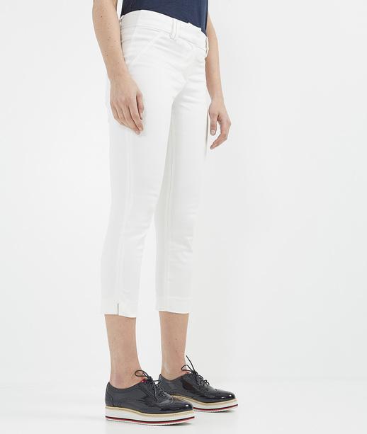 Pantalon femme droit 7/8ème BLANC CASSE