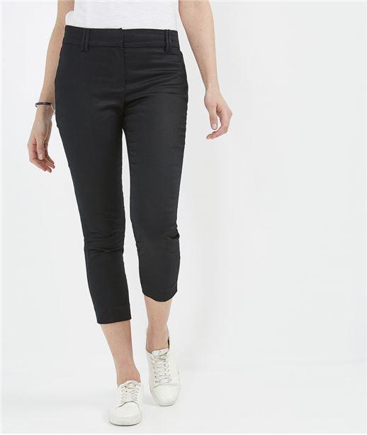 Pantalon femme droit 7/8ème NOIR