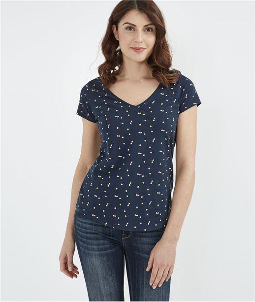 T-shirt basique avec imprimés MARINE
