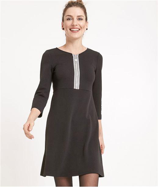 Robe femme avec zip poitrine NOIR