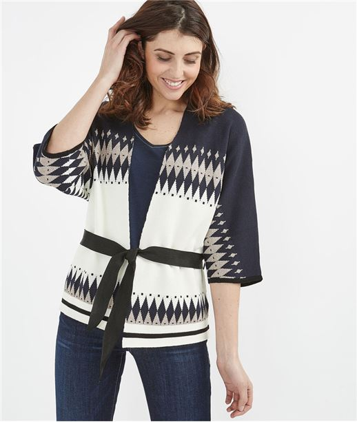 Gilet forme kimono MARINE