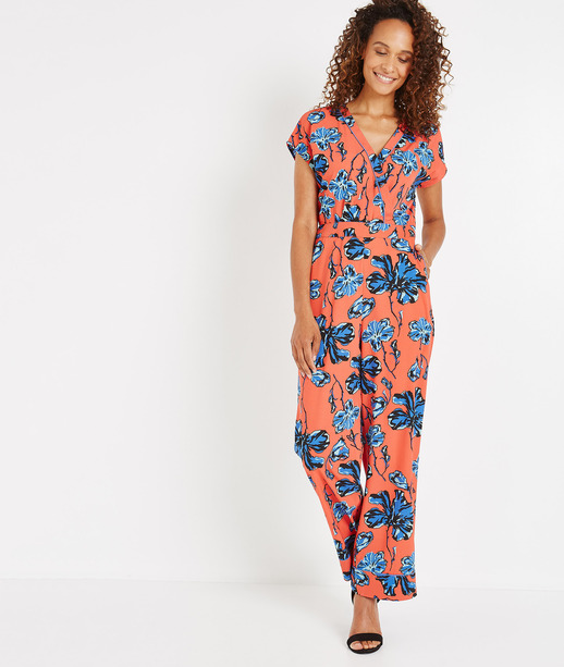 Combinaison pantalon fleurie CORAIL