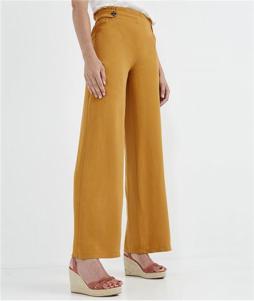 Pantalon paperbag large et safran SAFRAN