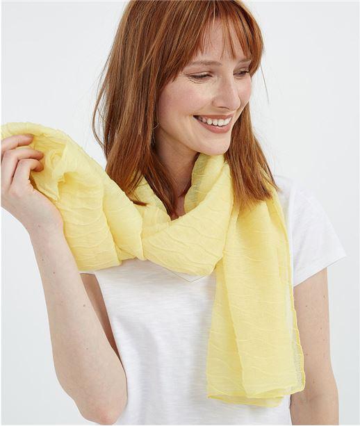 Foulard plissé jaune citron JAUNE