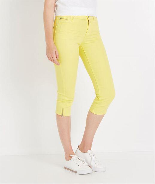 Corsaire en jean de couleur LEMON