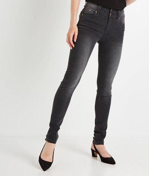 Jean slim taille haute GREY